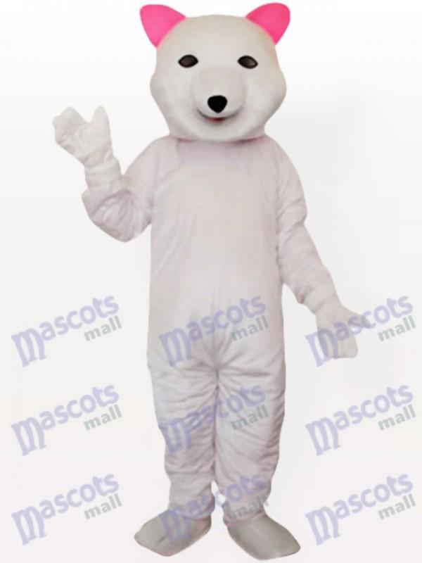 Rosa Ohr Eisbär Maskottchen Kostüm