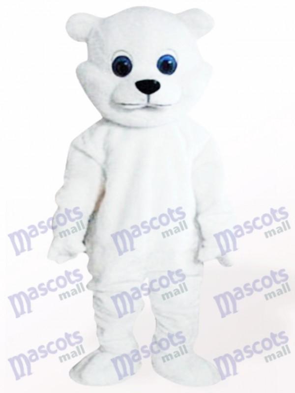 Weißer kleiner Bär Maskottchen Kostüm