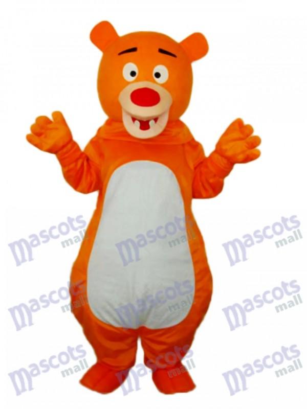 Kurzhaarige Orange Bär Maskottchen Erwachsenen Kostüm Tier