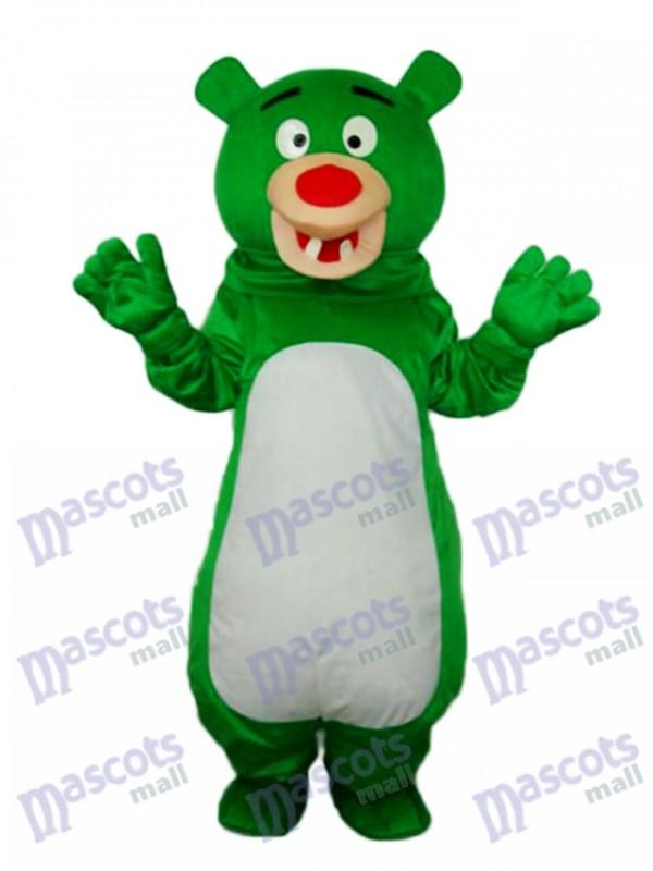 Kurzhaarige grüne Bären Maskottchen Kostüm Tier
