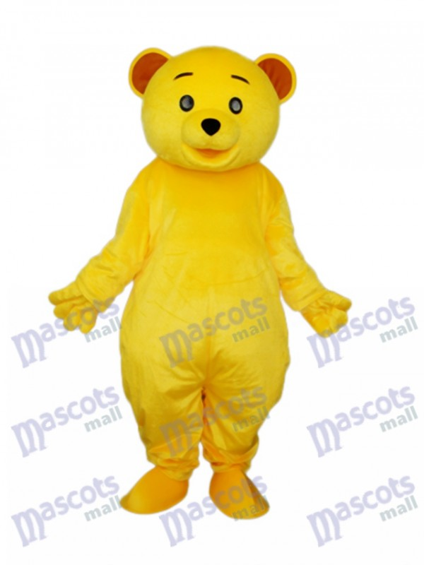 Gelb Teddybär Maskottchen Erwachsene Kostüm Tier