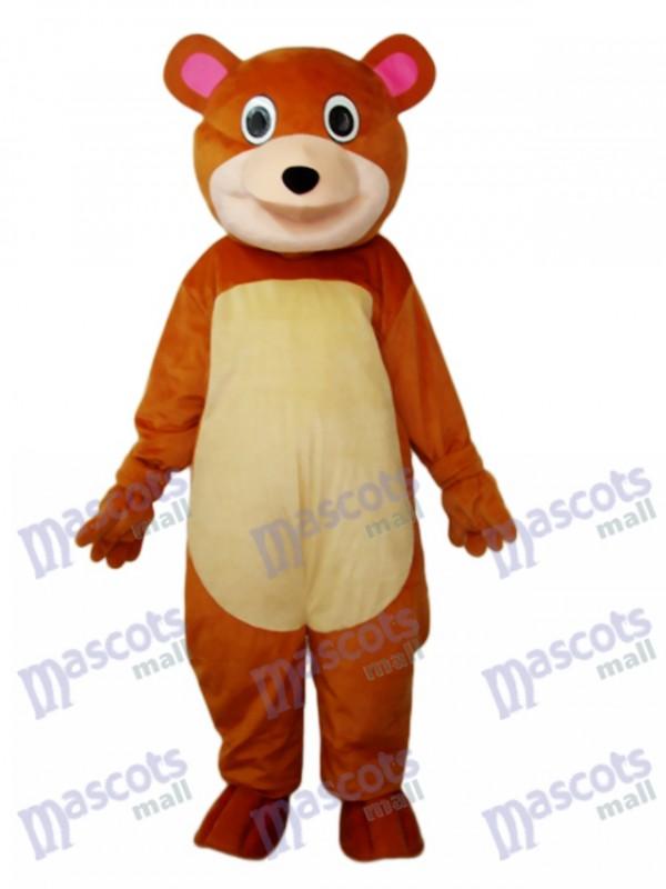 Runde Mundbär Maskottchen Erwachsene Kostüm Tier