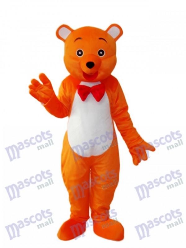 Orange Bär Maskottchen Erwachsene Kostüm Tier