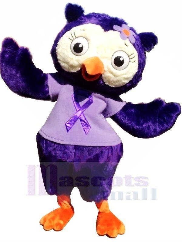 Wunderschönen Lila Eule Maskottchen Kostüme Tier
