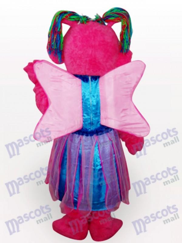 Butterfly Girl Kurzes Plüsch Maskottchen Kostüm für Erwachsene
