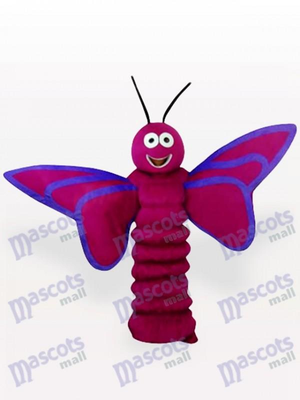Lila Schmetterling Insekt Maskottchen Kostüm für Erwachsene