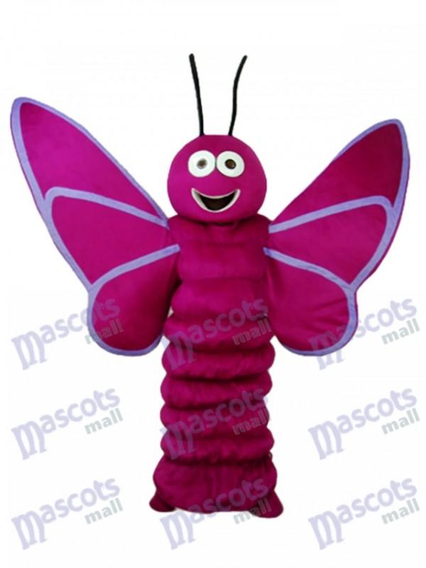 Lila Schmetterling Maskottchen Erwachsenen Kostüm Insekt