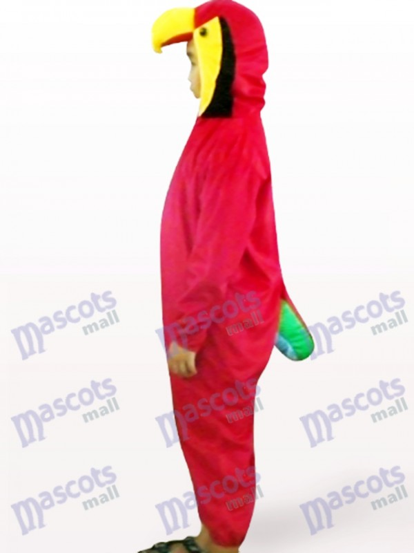 Red Papagei Open Face Kinder Vogel Maskottchen Kostüm