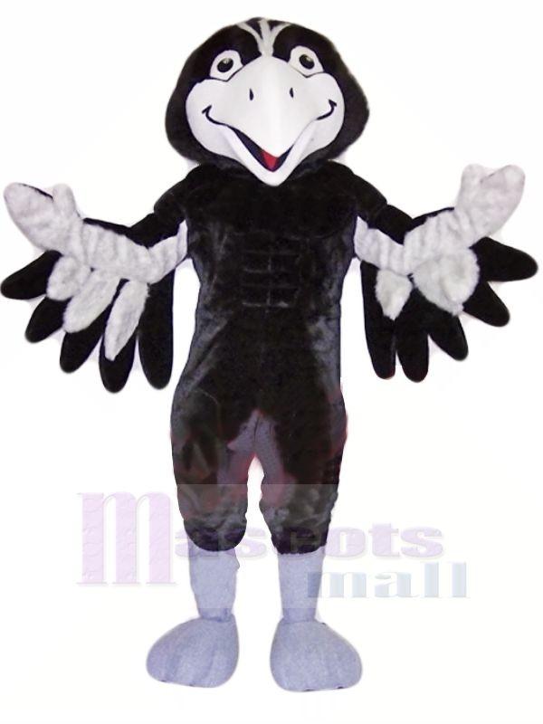 Schwarz und Grau Falke Maskottchen Kostüme Tier