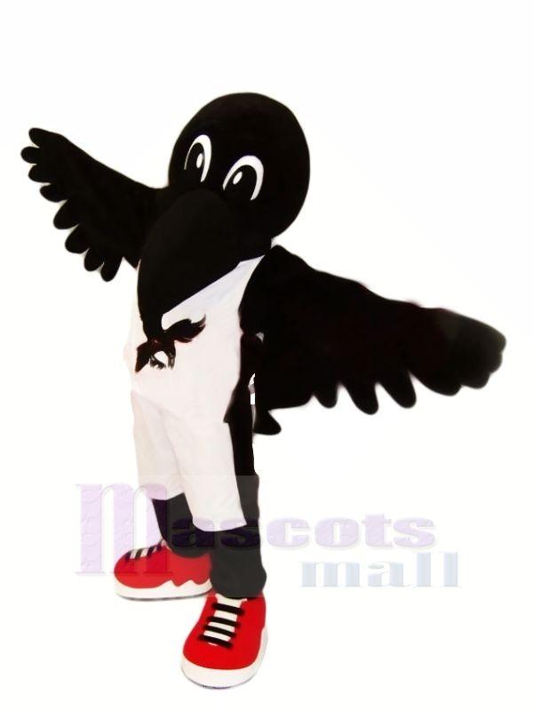 Schwarz Krähe mit rot Schuhe Maskottchen Kostüme Tier