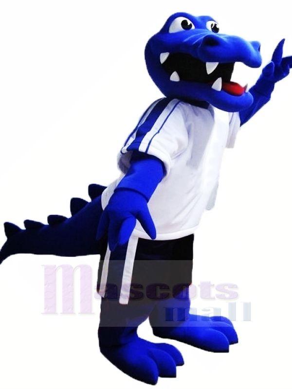 Blaues Alligator Maskottchen kostümiert Tier