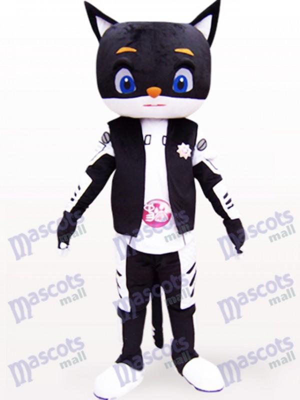 Sir Black Cat Tier Maskottchen Kostüm für Erwachsene