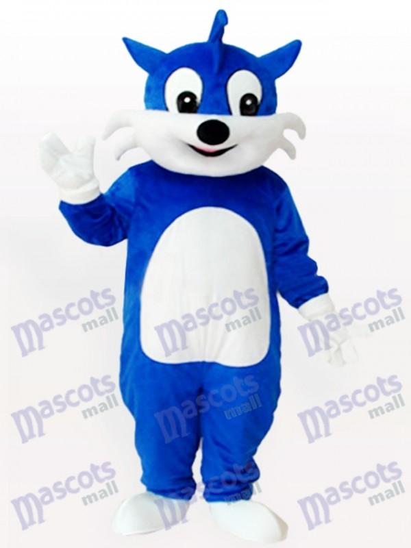 Blaue Katze Maskottchen Kostüm für Erwachsene