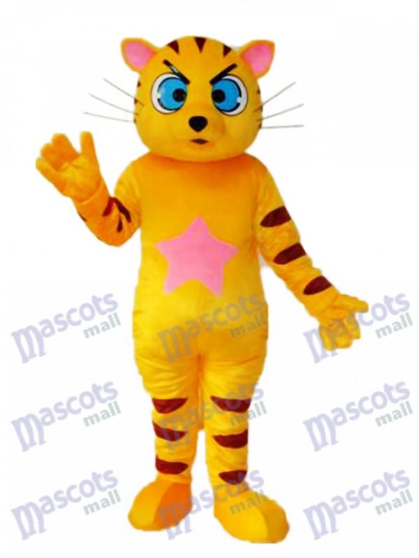 Gelbes Katzen Maskottchen erwachsenes Kostüm Tier