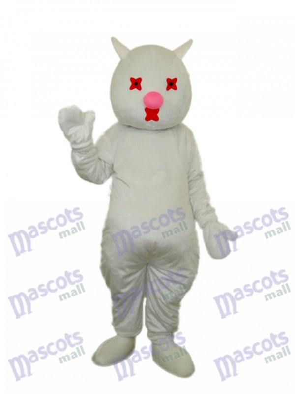 Weiße Katze Maskottchen Erwachsene Kostüm Tier