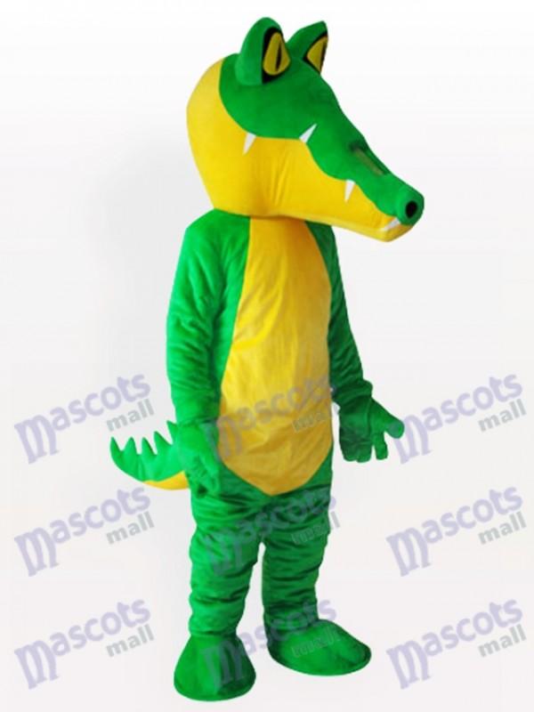 Gelbbauch-Krokodil Maskottchen Kostüm für Erwachsene
