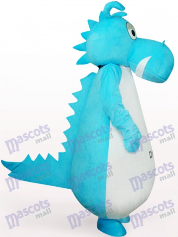 Protoceratops in blauer Kleidung Maskottchen Kostüm