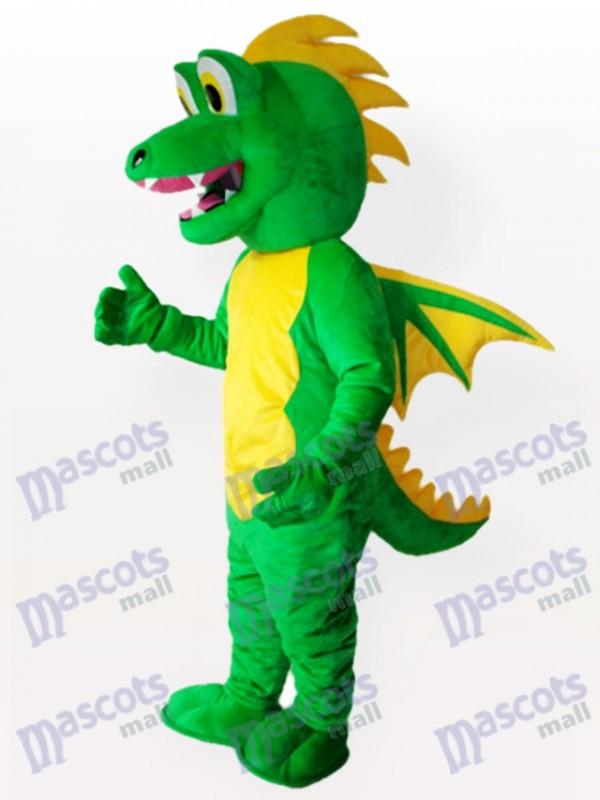 Grünes Stegosaurus Maskottchen Kostüm für Erwachsene