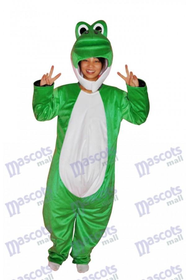 Super nettes Show Gesicht grünes Dinosaurier erwachsenes Maskottchen Kostüm Tier