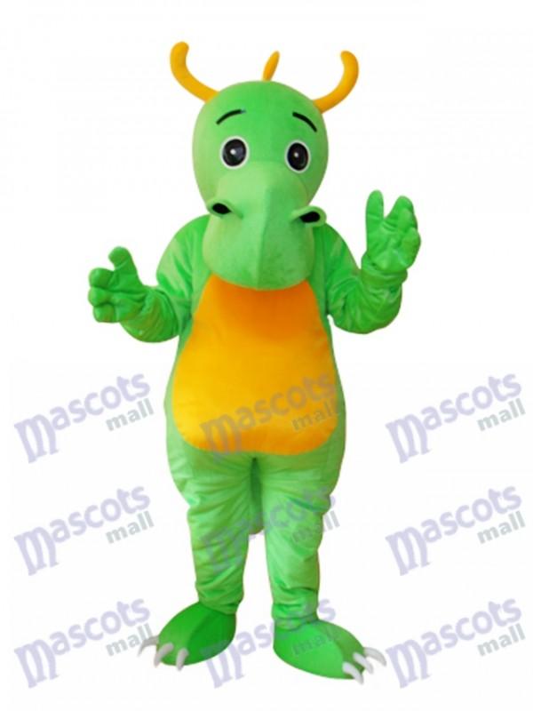 Big Nose Horned Green Dinosaurier Maskottchen Adult Kostüm Tier
