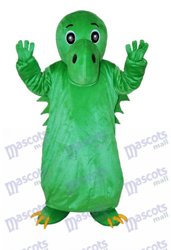 Grünes chinesisches Dinosaurier erwachsenes Maskottchen Kostüm Tier