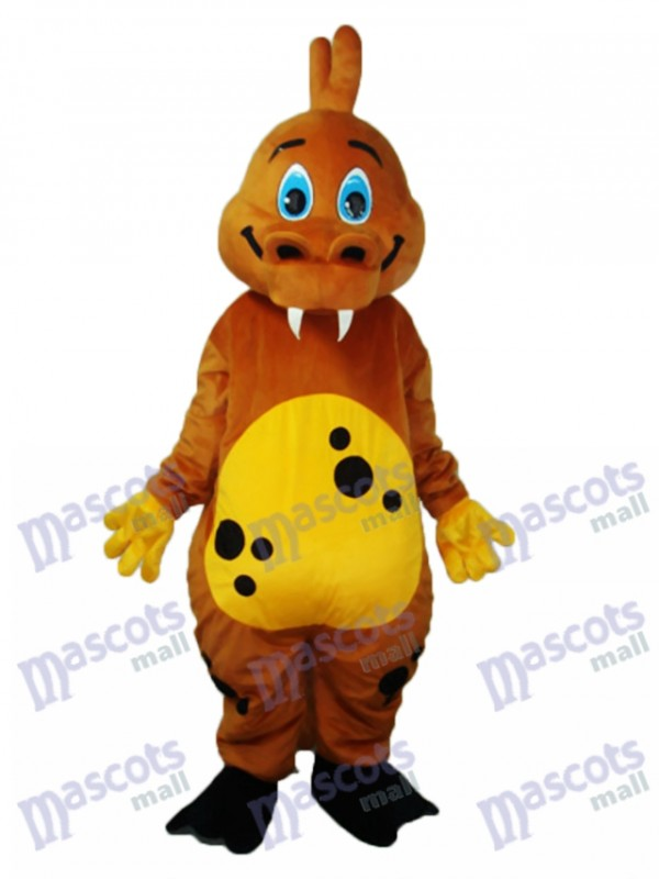 Golden Brown Dinosaurier Maskottchen Erwachsene Kostüm Tier