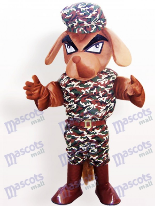Camouflage Mantel Hund Tier Maskottchen Kostüm für Erwachsene