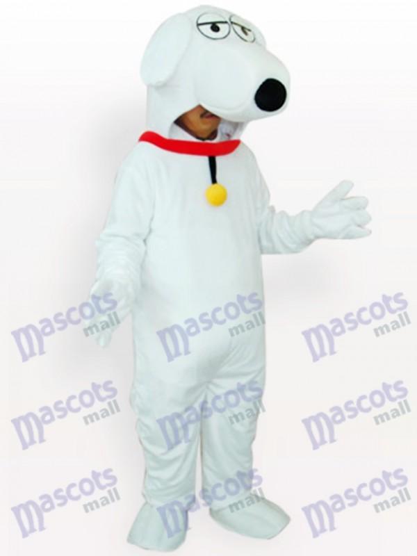 Weißer Hund Tier Maskottchen Kostüm