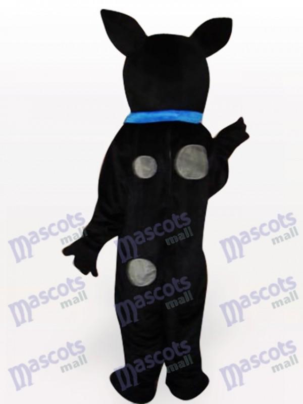 Schwarzer Hund Maskottchen Kostüm für Erwachsene
