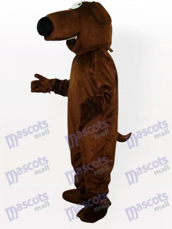 Große Nase Grauer Hund Maskottchen Kostüm für Erwachsene