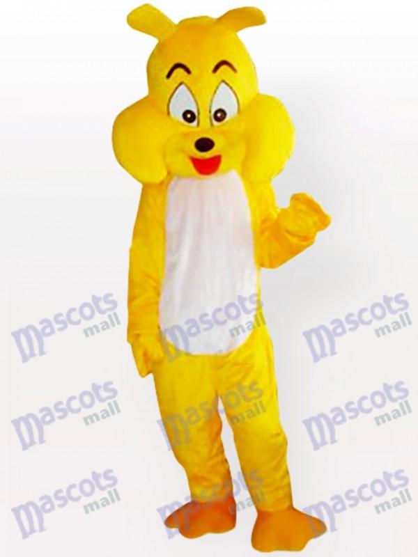 Gelbes Maskottchen Kostüm für Hunde