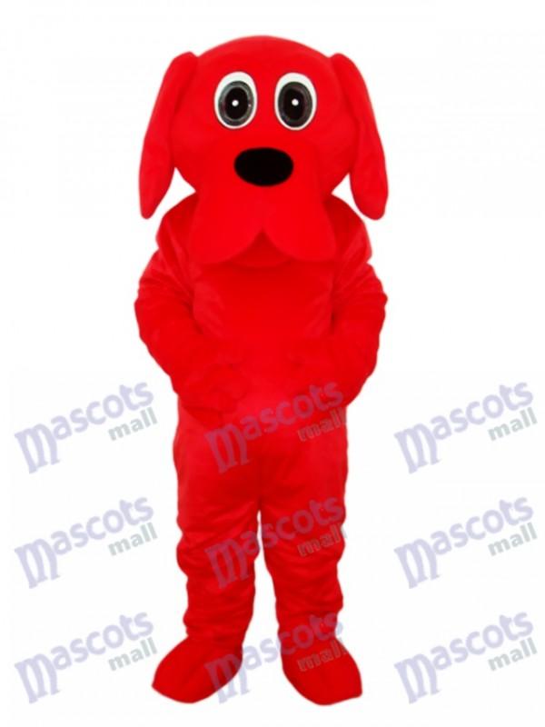 Schwarze Nase Rooney Red Dog Maskottchen Adult Kostüm Tier
