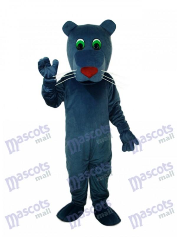 Schwarzer Mund Hund Maskottchen Erwachsene Kostüm Tier