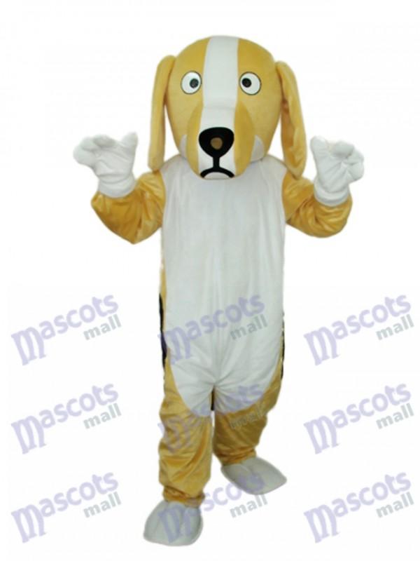 Khaki und Weiß Hund Maskottchen Erwachsene Kostüm Tier