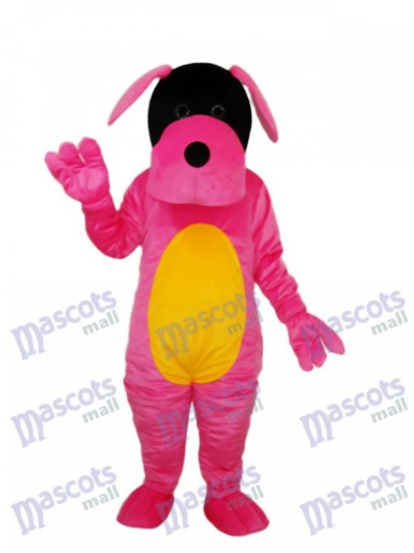 Rosa Hund Maskottchen Erwachsene Kostüm Tier