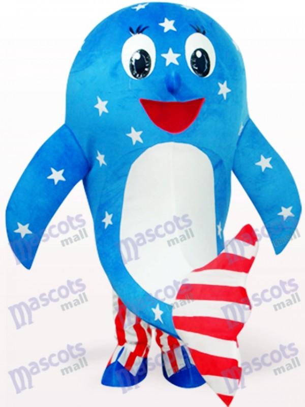 Blaues amerikanisches Delphin Ozean erwachsenes Maskottchen Kostüm