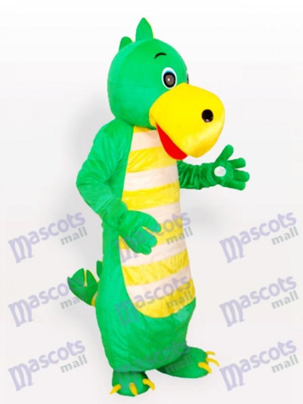 Grüner Drache Maskottchen Kostüm für Erwachsene