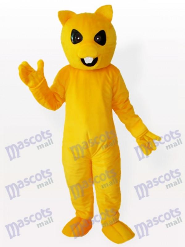 Gelbes und weißes Fox Maskottchen Tierkostüm