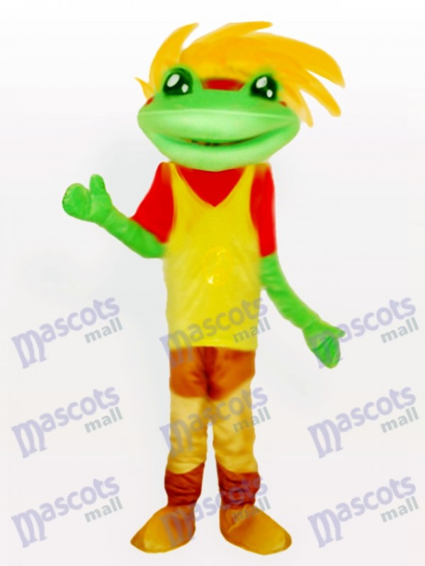 Frosch Prinz Maskottchen Kostüm