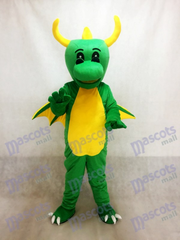 Grüner Dinosaurier Maskottchen Kostüm Drache