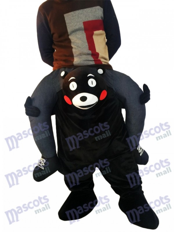 Huckepack Kumamon Carry Me Ride auf Black Bear Maskottchen Kostüm