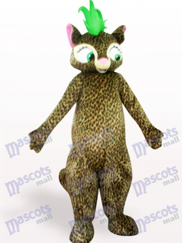 Schönes Leopard Maskottchen Kostüm für Erwachsene