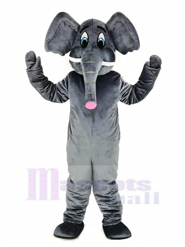 Grau Elefant Erwachsene Maskottchen Kostüm Karikatur