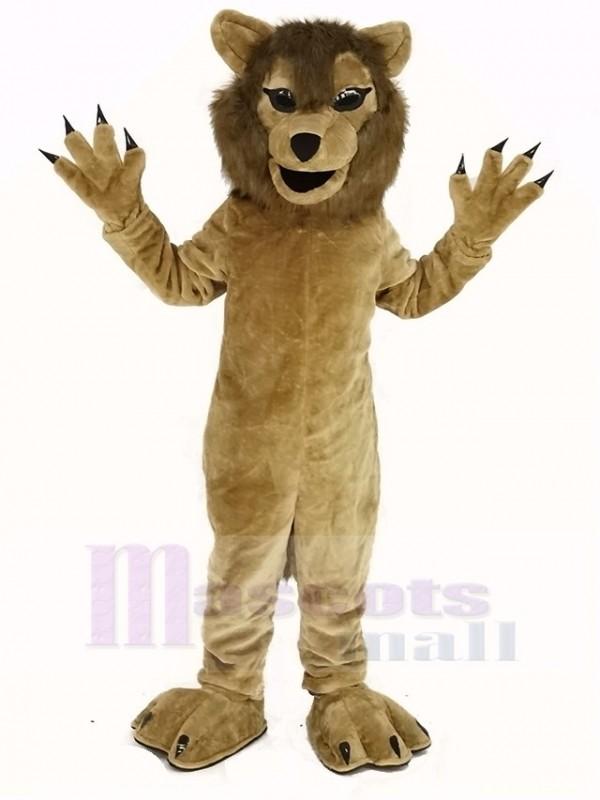 Cool Polizei Wolf Maskottchen Kostüm