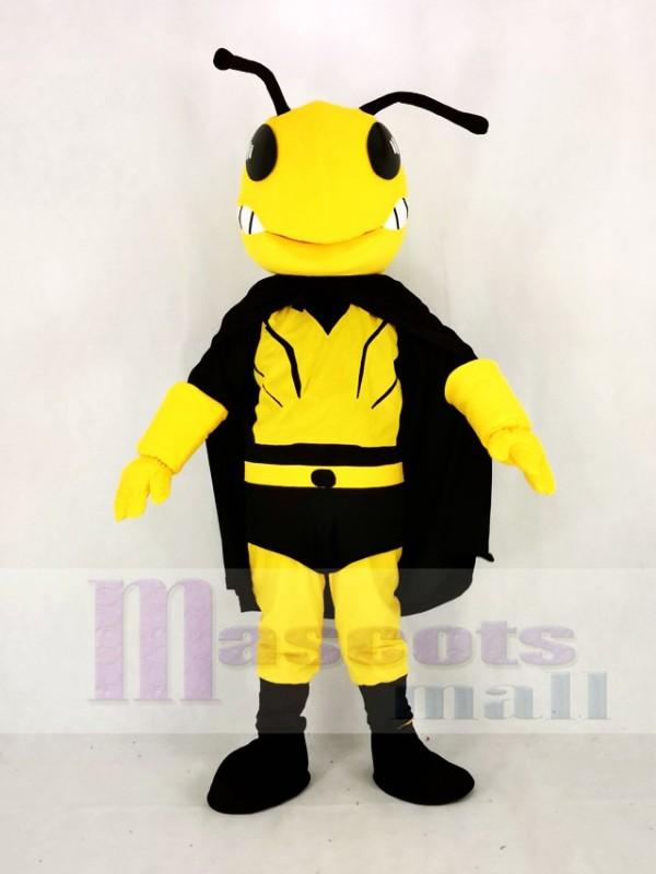 Cool Held Biene Maskottchen Kostüm Karikatur