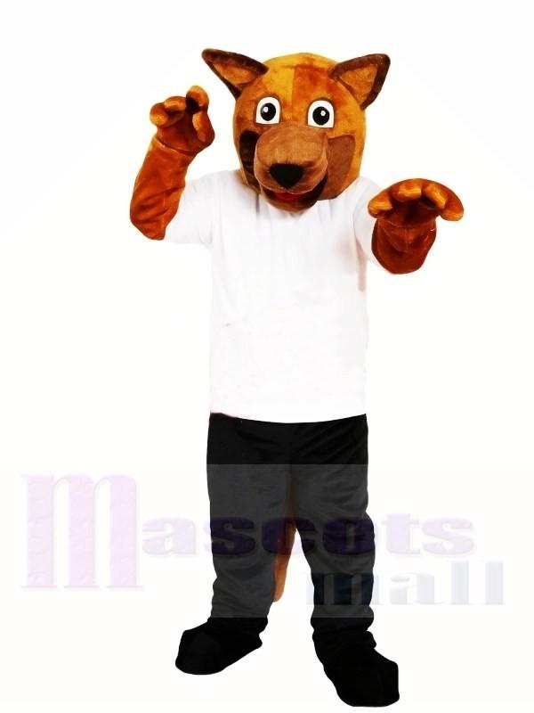 Brauner Hund Maskottchen Kostüm Kostenloser Versand
