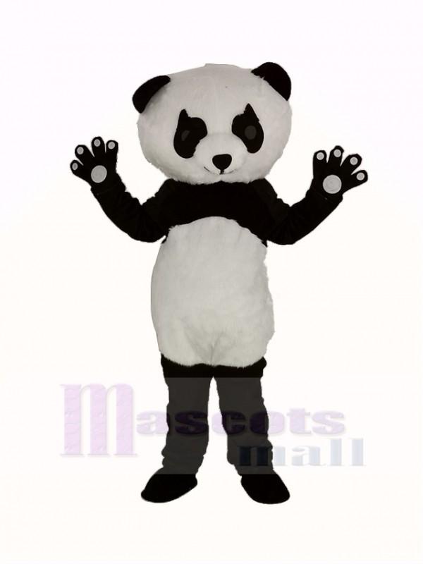 Panda mit Lange Wimpern Maskottchen Kostüm