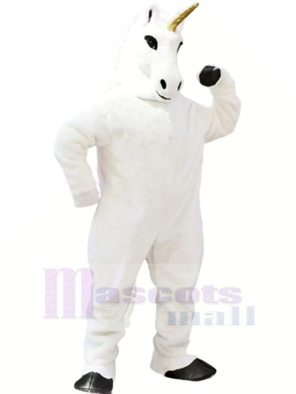 Weiß Einhorn Maskottchen Kostüme Karikatur