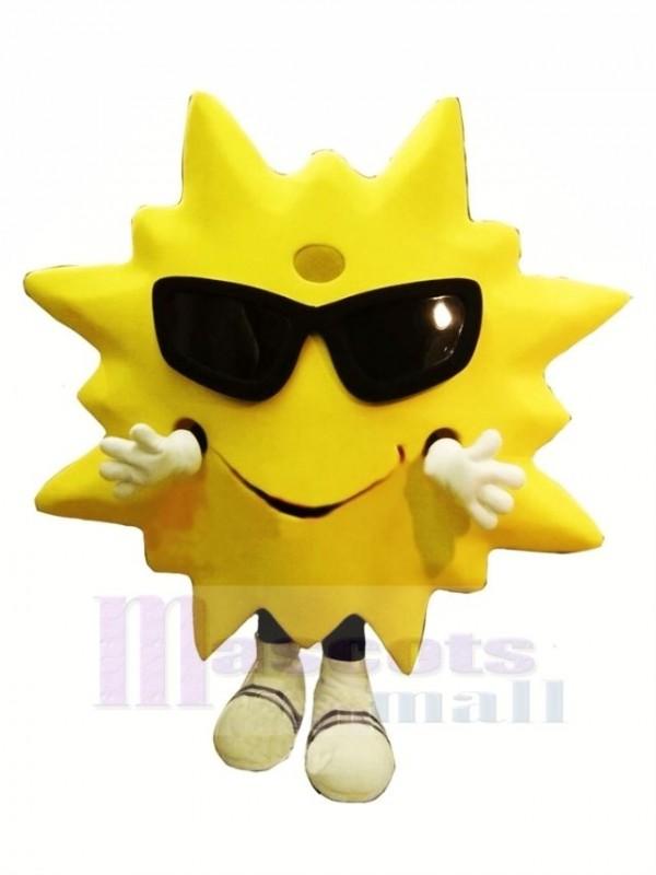 Cool Lächelnd Sonne Maskottchen Kostüm Karikatur