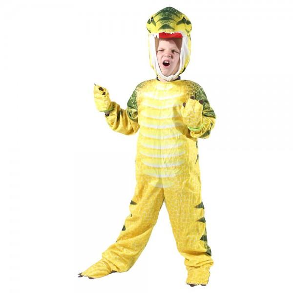 Gelb T-Rex Dinosaurier Kostüm Dinosaurier Overall Halloween Weihnachten Kleid oben Geschenk zum Kind